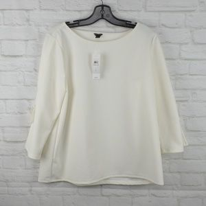 $15 Deal! Ann Taylor - White blouse, tie sleeves